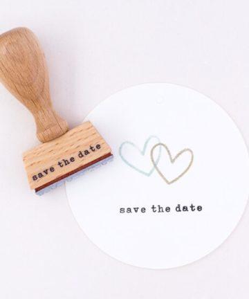 Save the date Perlenfischer Stempel